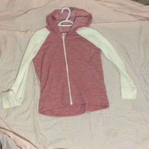 Old Navy warm pink and cream lightweight jacket
